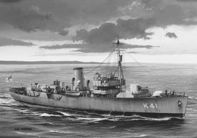 HMS Sunflower by Ivan Berryman.