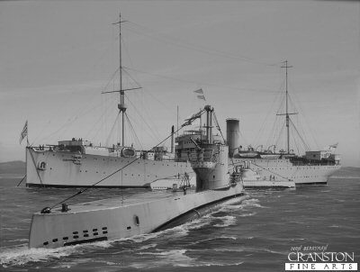 HMS Cyclops Prepares to Receive HMS Sceptre by Ivan Berryman