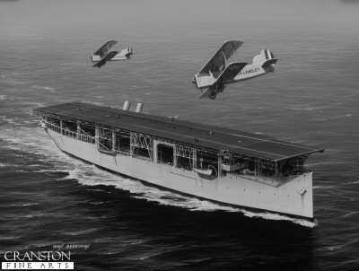 USS Langley by Ivan Berryman