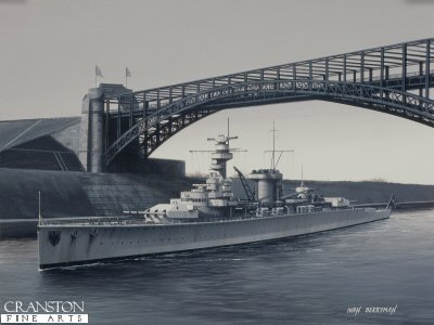 Deutschland Passing Through the Kiel Canal by Ivan Berryman.