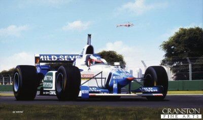 Jean Alesi/ Benetton B.196 by Ivan Berryman