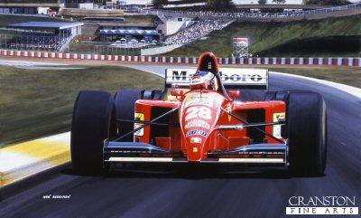 Gerhard Berger/ Ferrari 412.T2 by Ivan Berryman.