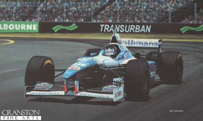 Damon Hill/ Williams Renault FW.18 by Ivan Berryman