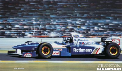 Damon Hill/ Williams FW.17 by Ivan Berryman