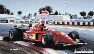 Jean Alesi/ Ferrari 412 by Ivan Berryman. (GS)