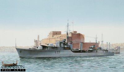 HMS Cossack by Ivan Berryman.