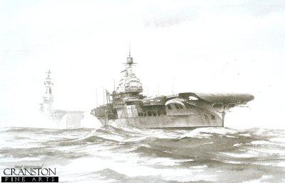HMS Victorious by Ivan Berryman.