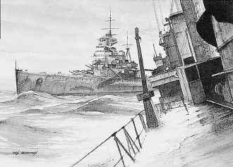 HMS Prince of Wales by Ivan Berryman.