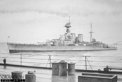 HMS Hood by Ivan Berryman