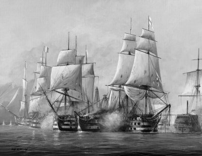 Battle of Trafalgar by Ivan Berryman.