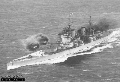 HMS King George V by Ivan Berryman.