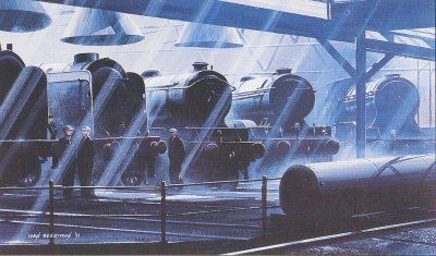Sleeping Giants/ Mighty Locomotives B16 (B16, V2s and A1s) by Ivan Berryman.