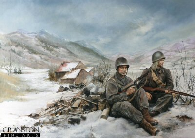 US soldiers during winter in the Korean War by Chris Collingwood.