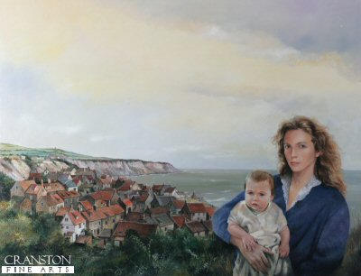 Mother and Child with seascape circa 1800s by Chris Collingwood.