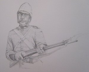 Sergeant at Rorkes Drift by Chris Collingwood. (P)