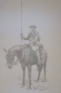 Trooper of the 9th Lancers with Lance 1914  by Chris Collingwood (P)