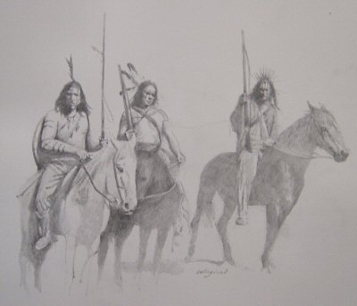 Comanche War Party c.1840s by Chris Collingwood. (P)
