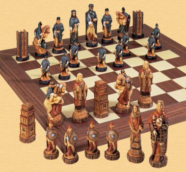 Battle of Hastings Chess Pieces.