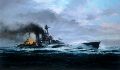 HMS Hood by Robert Taylor