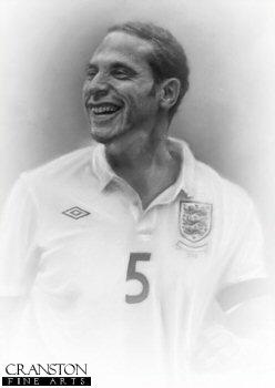 Rio Ferdinand - England by Stephen Doig.
