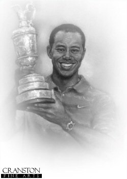 Tiger Woods by Stephen Doig.