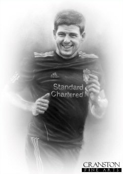 Steven Gerrard MBE - Liverpool Captain by Stephen Doig.
