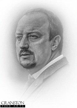 Rafa Benitez - Liverpool by Stephen Doig.