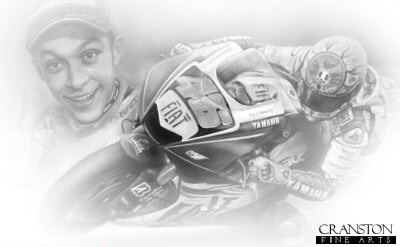 Valentino Rossi by Stephen Doig.