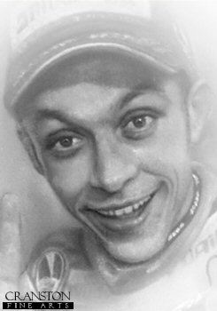 Valentino Rossi - Portrait by Stephen Doig.