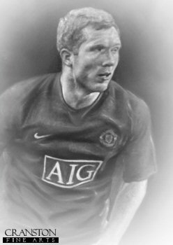 Paul Scholes - Manchester United by Stephen Doig.