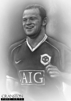 Wayne Rooney - Manchester United by Stephen Doig.
