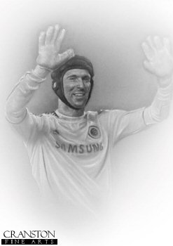 Petr Cech - Chelsea by Stephen Doig.