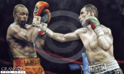 Joe Calzaghe v Roy Jones Jnr by Stephen Doig.