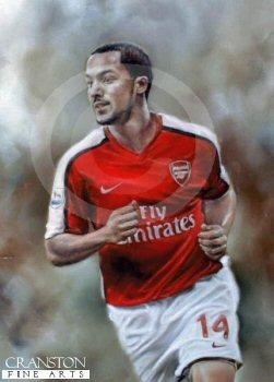 Theo Walcott - Arsenal No.14 by Stephen Doig.