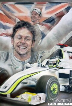 World Champion - Jenson Button by Stephen Doig. (B)