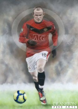 Unstoppable - Wayne Rooney by Stephen Doig.
