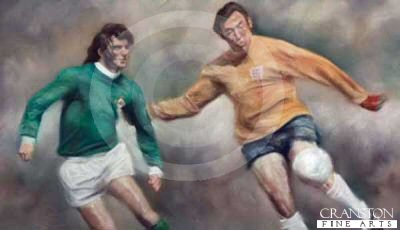 George Best v Gordon Banks by Stephen Doig.
