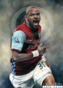 Darren Bent - Aston Villa Debut by Stephen Doig.