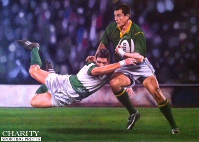 Tribute to South African Springbok Thinus Delport by Robert Highton.
