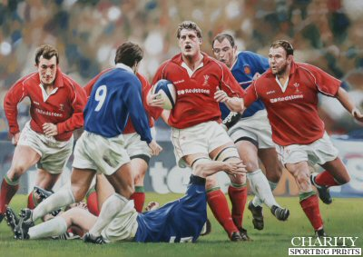 Wales 43 - France 35, Six Nations 2001 by Robert Highton.