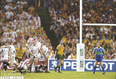 Johnny Wilkinson - The Drop Kick, Rugby World Cup 2003 by Darren Baker.