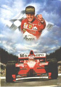 Michael Schumacher by Darren Baker.