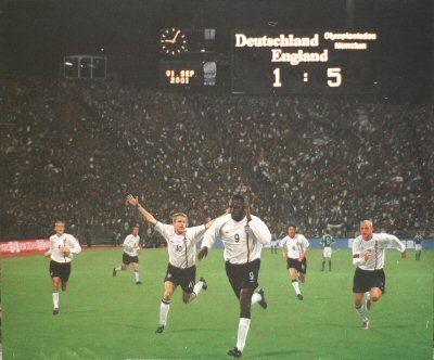 England v Germany 5 - 1 by Darren Baker