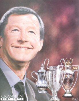 Sir Alex Ferguson by Darren Baker. (XX)