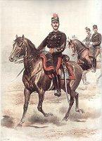Chef d'Escadrons D'Artillerie Commandant Les Batteries Divisionnaires des Cavaleries - Grande Tenue by Edouard Detaille (P)