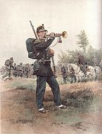 Chasseurs a Pied - Clairon - Grande Tenue by Edouard Detaille (P)