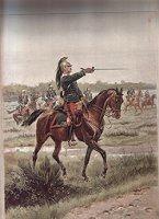 Officier de Dragons - Tenue de Manoeuvre by Edouard Detaille (P)