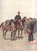 Artillerie - Sous-Officiers de Batteries a Cheval et Cannoniers de Batteries a Pied - Grande Tenue by Edouard Detaille (P)