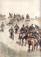 Artillerie a Cheval - Mise en Batterie; Tenue de Campagne by Edouard Detaille (P)
