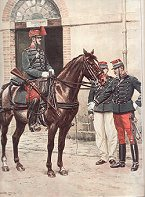 Officier et Cavaliers du Train des Equipages Militaires by Edouard Detaille (P)